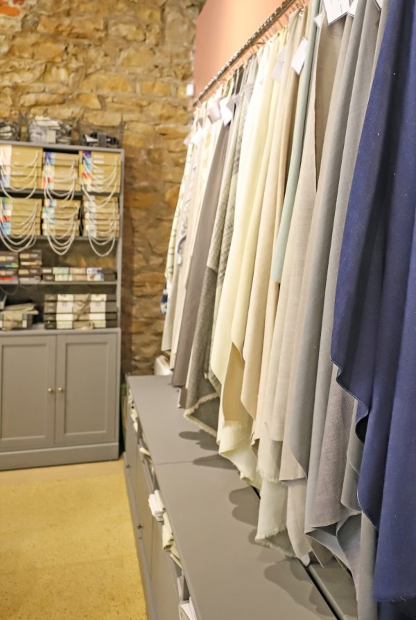 Fabric selections for Roman shades and drapes at Impressive Windows and Interiors Hastings MN